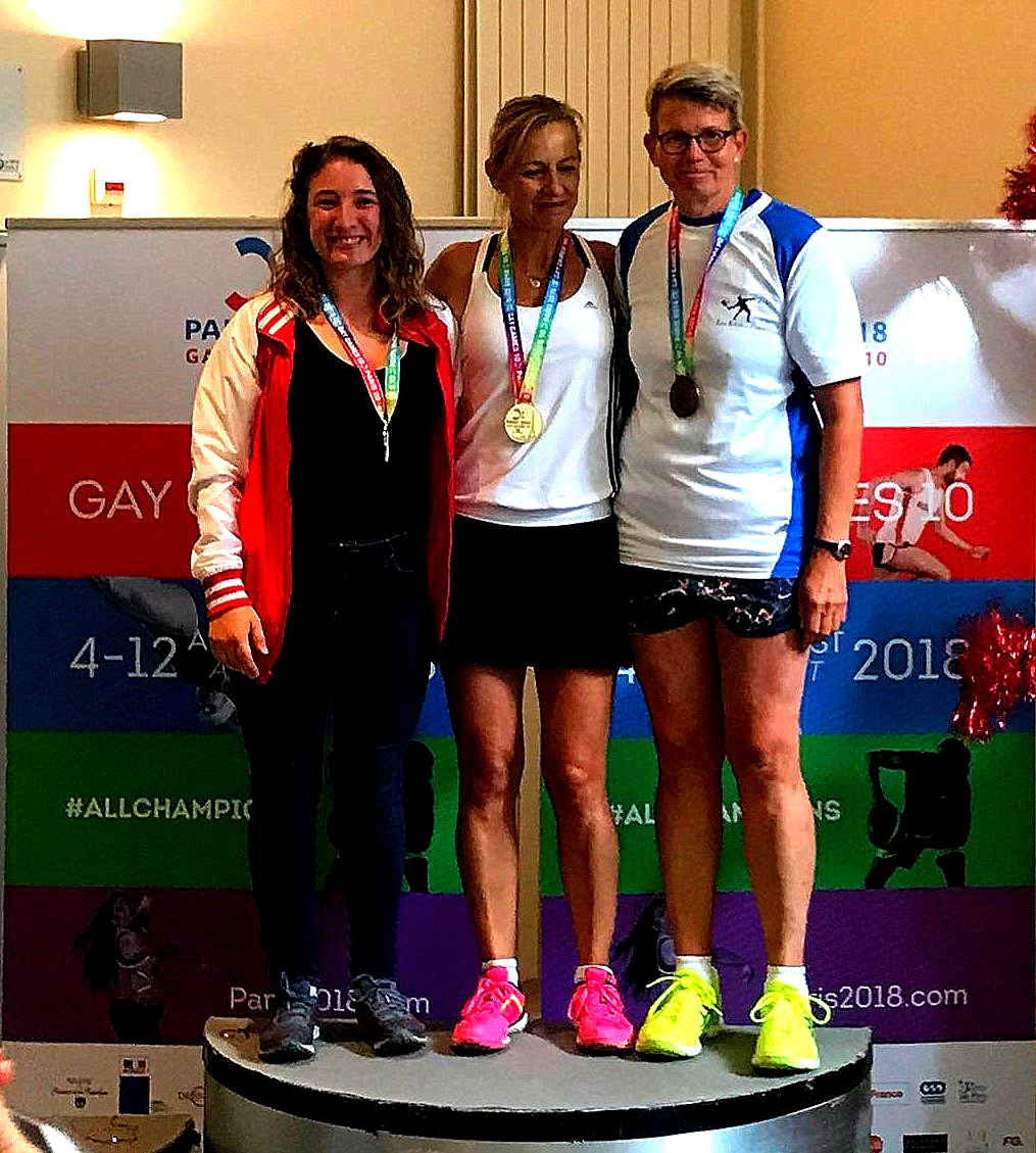 Gay Games podium femmes