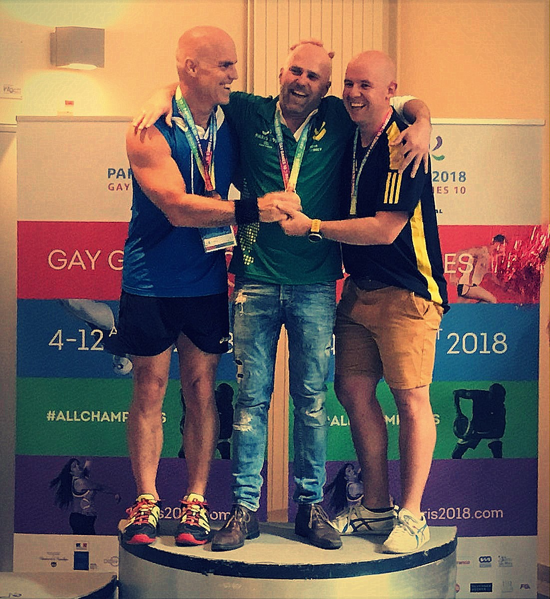 Gay Games podium hommes Level C
