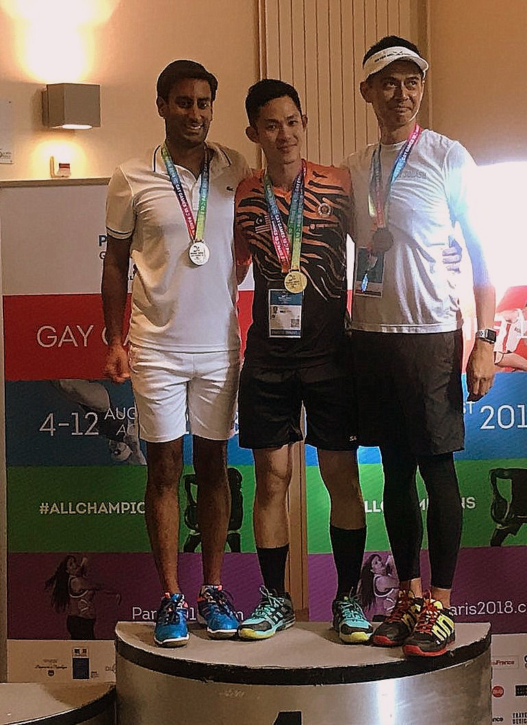 Gay Games podium hommes Level D