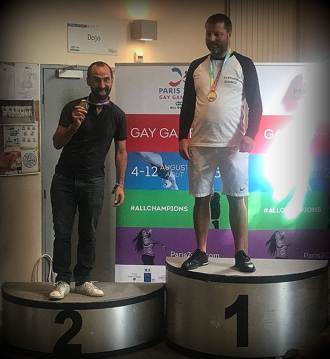 Gay Games podium hommes Level E