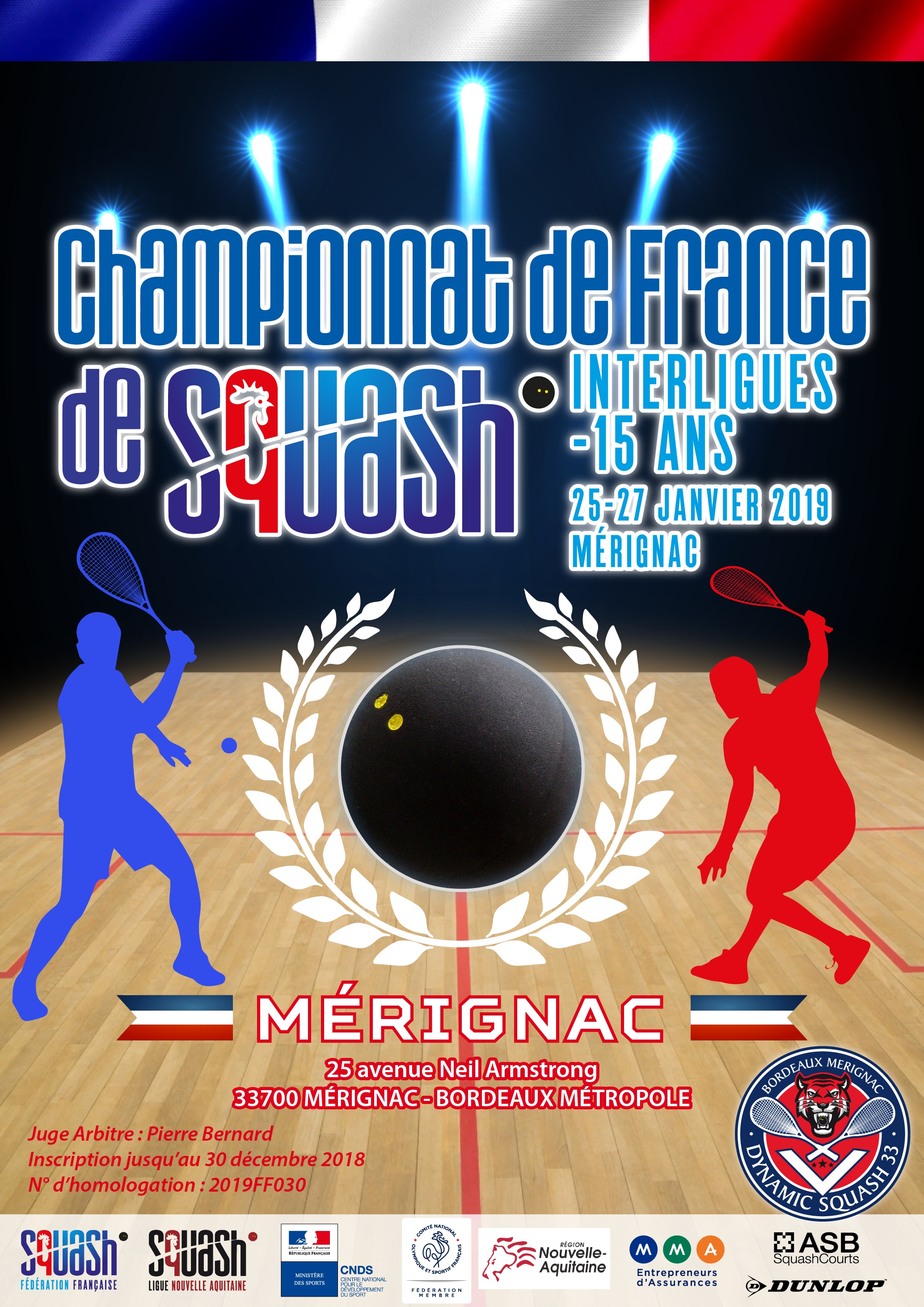 CHAMPIONNAT DE FRANCE INTERLIGUES JEUNES : DIRECTION MÉRIGNAC
