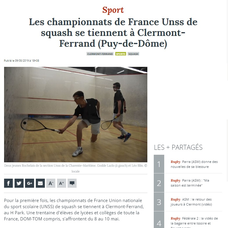 Championnat de France UNSS 2019 CR Photo 4