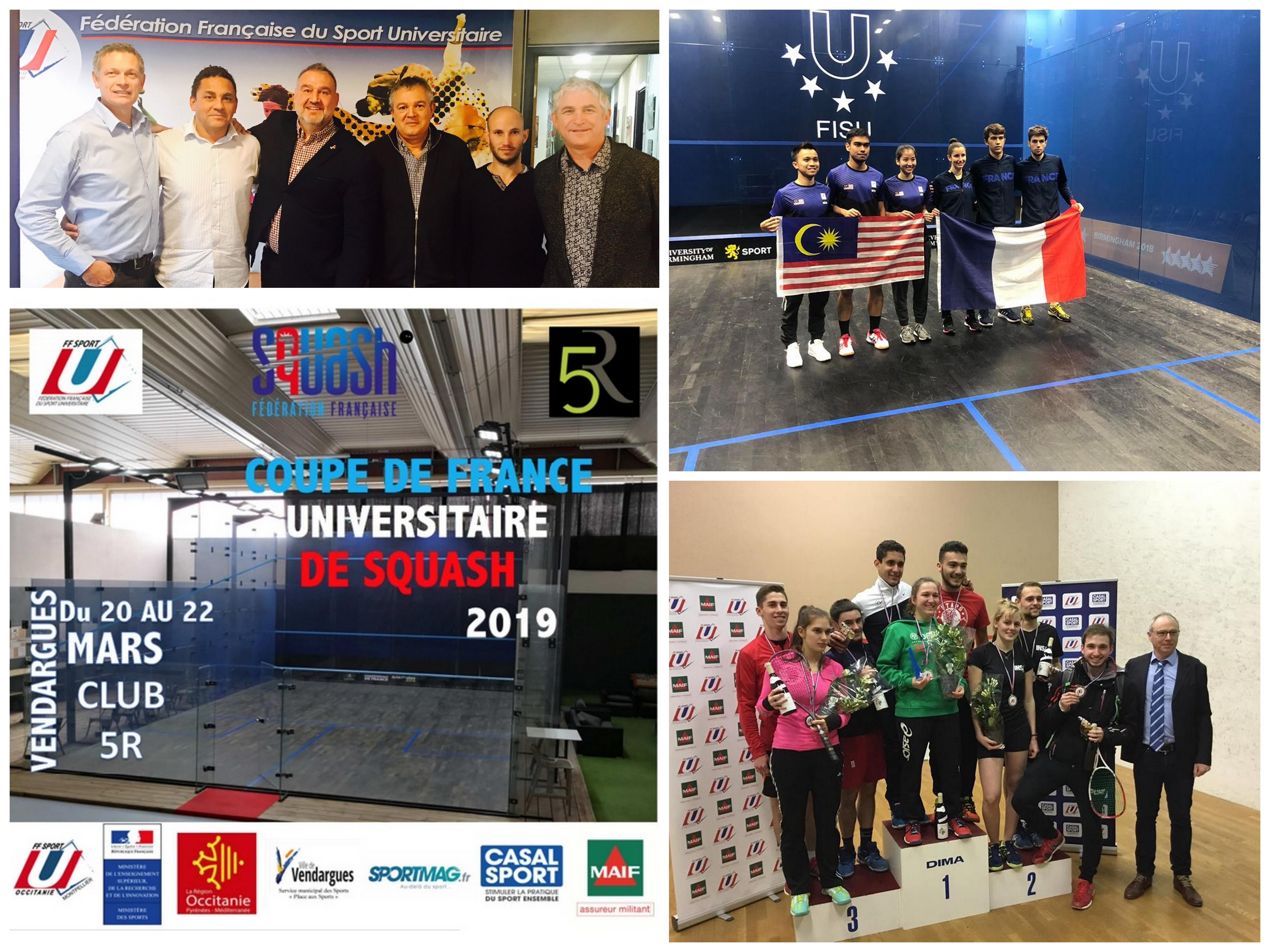 COUPE DE FRANCE FFSU : LE SQUASH UNIVERSITAIRE À L'ÉTUDE